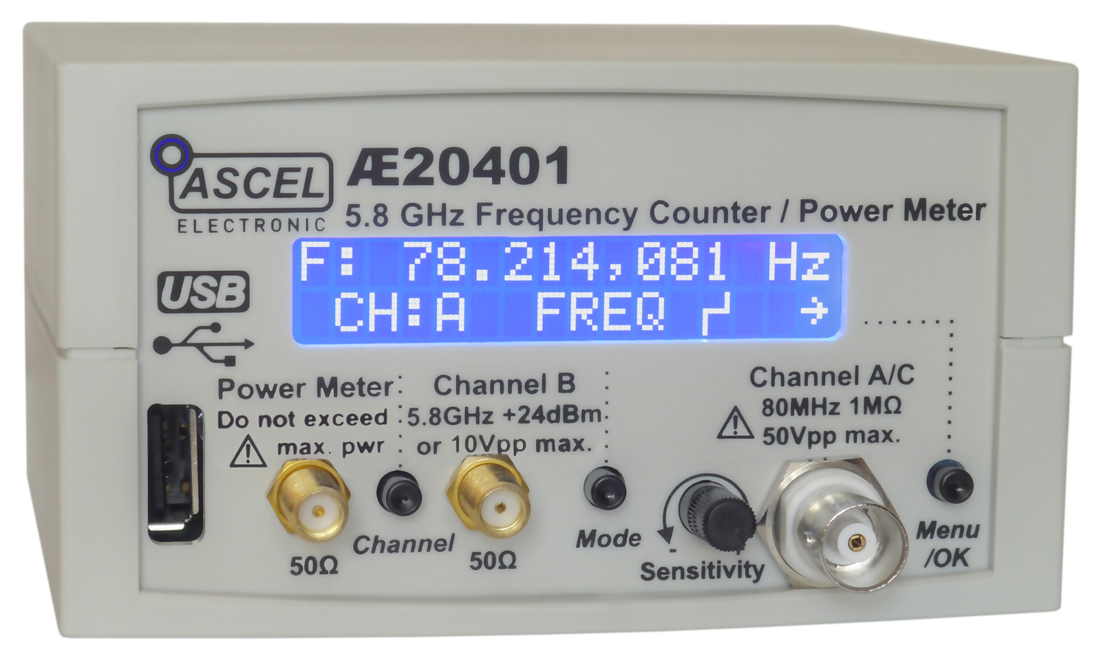 Frequency Counter Kit : Ae ghz frequency counter rf power meter pulse
